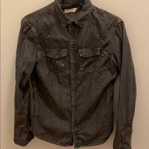 Black jean button down